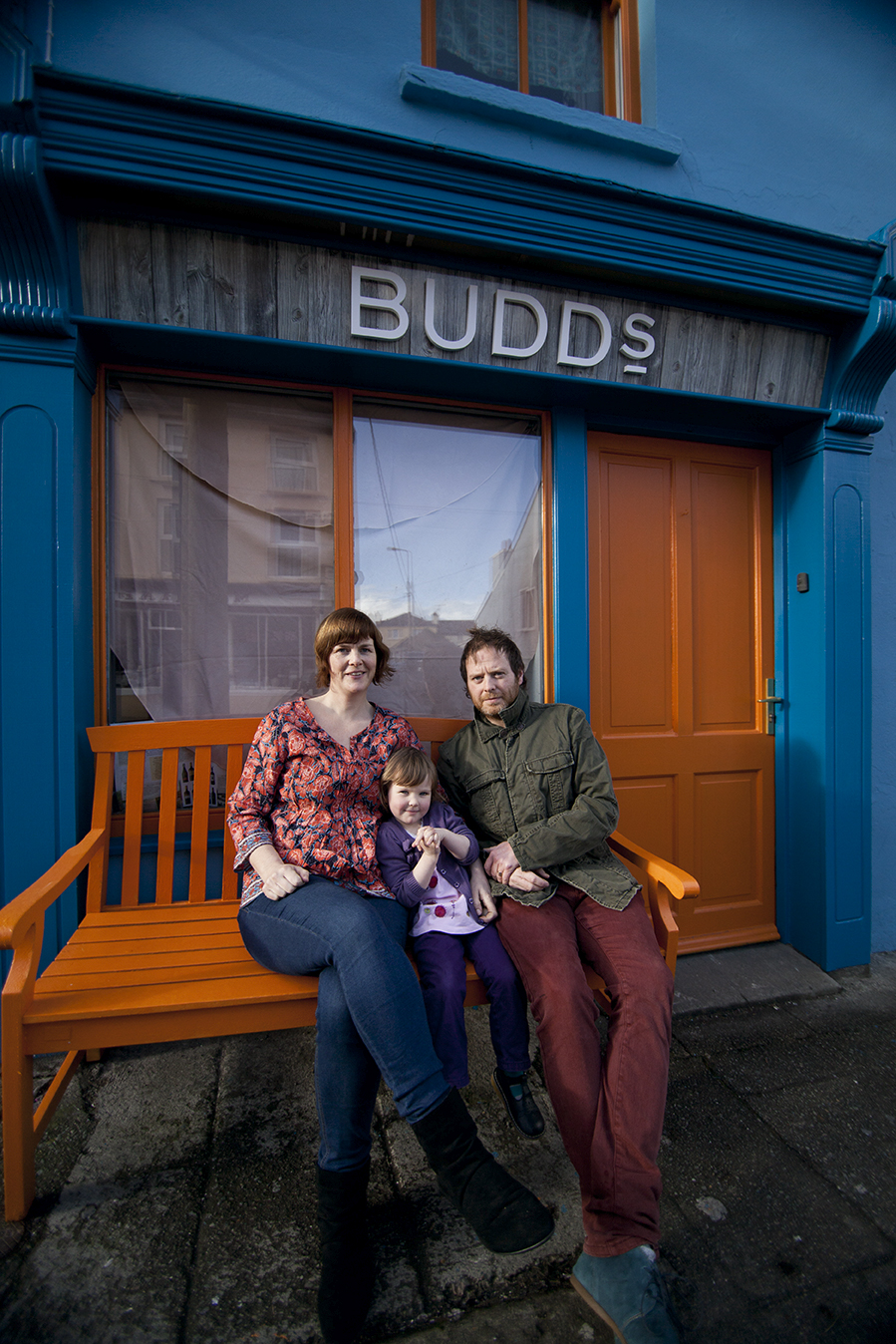 the Budd family outside their restaurant in Ballydehob along the Wild Atlantic Way
