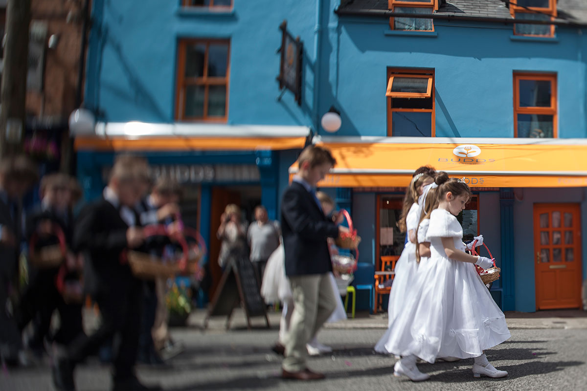 communion-march-outside-budds-ballydehob